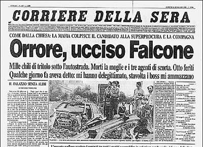 Giovanni Falcone La strage di Capaci Corriere della sera