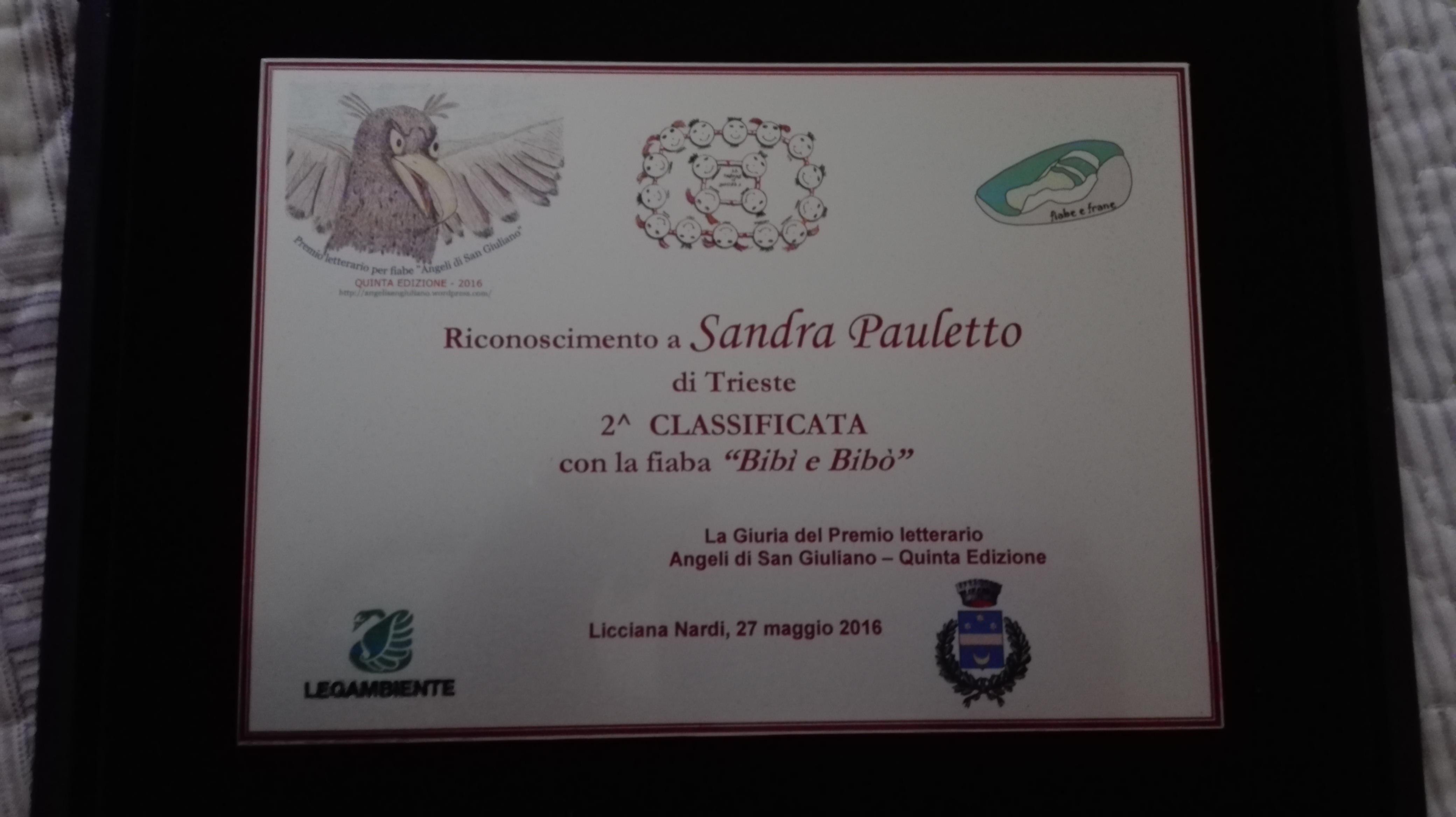 Targa premio letterario Gli angeli di San Giuliano