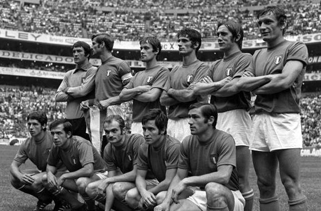 La nazionale italiana della semifinale contro la Germania Ovest del 1970