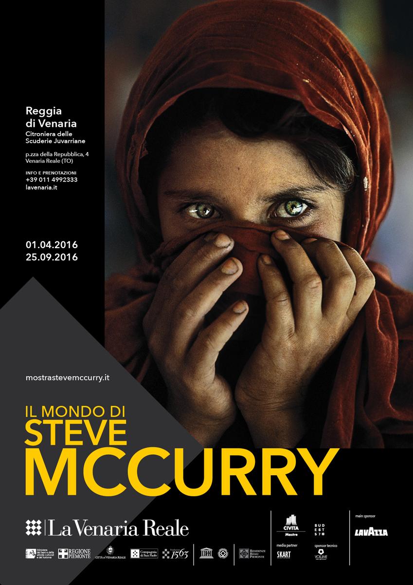 locandina della mostra di Steve McCurry