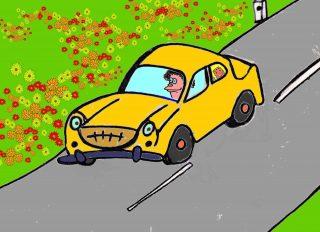 La macchina è in partenza verso casa sta viaggiando E Giulia al finestrino la campagna sta guardando E' stanca ma felice stringe forte bubulone Mentre alla guida il papi fischia una canzone