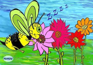 C'è un ronzio nell'aria un enorme calabrone vola canticchiando a squarciagola una canzone poi sparisce lesto dentro un fiore colorato uguale a tanti altri che ricoprono quel prato