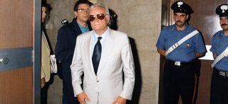 il funzionario del SISDE Bruno Contrada durante il processo a suo carico