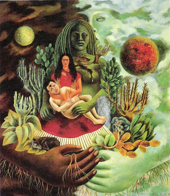 Frida Kahlo- L'amoroso abbraccio dell'universo la terra (Messico), io, Diego e il signor Xolotl