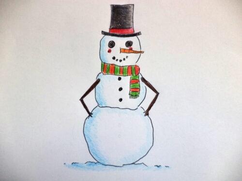 L'omino della neve filastrocca di Sandra Pauletto