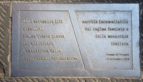Leggi razziali 18 settembre 1938, Trieste.