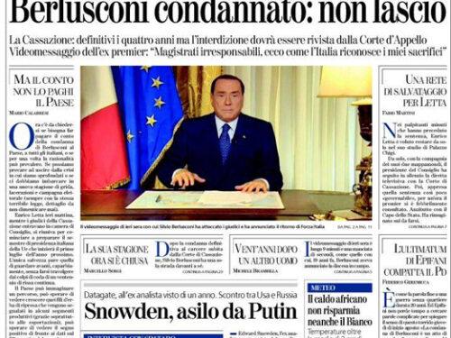 Berlusconi ascesa e discesa di un politico chiacchierato (quindicesima parte)