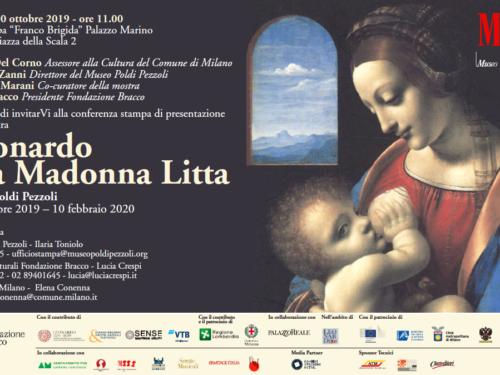 Mostra Leonardo e la Madonna Litta – Milano 7 /11/2019 – 10/2/2020
