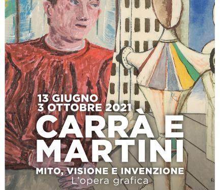 """Mostra: Carrà e Martini. """"MITO, VISIONE E INVENZIONE"""" fino al 3.10.21"""